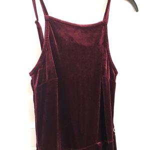 Francesca's velvet jumpsuit